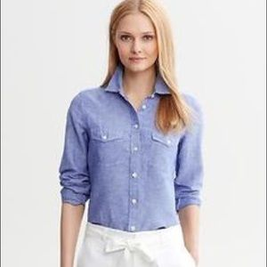 Banana Republic Chambray Soft Wash Shirt
